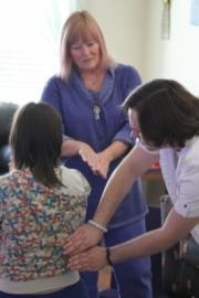 Learning advanced Reiki at Anne Penman Reiki Las Vegas the Reiki Hut_ #1